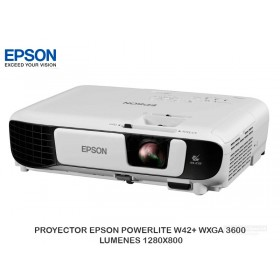 PROYECTOR EPSON POWERLITE W42+ WXGA 3600 LUMENES 1280X800
