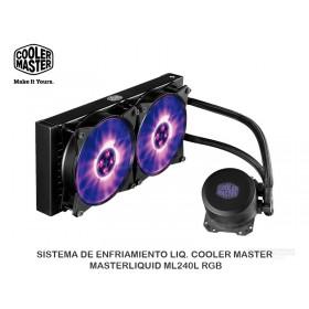 SISTEMA DE ENFRIAMIENTO LIQ. COOLER MASTER, MASTERLIQUID ML240L RGB