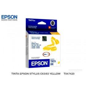 TINTA EPSON STYLUS C63/83 YELLOW     T047420