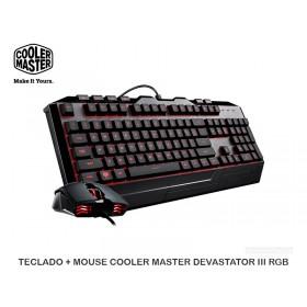 TECLADO + MOUSE COOLER MASTER DEVASTATOR III RGB