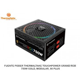 FUENTE PODER THERMALTAKE TOUGHPOWER GRAND RGB 750W GOLD, MODULAR, 80 PLUS