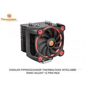 COOLER P/PROCESADOR THERMALTAKE INTEL/AMD RIING SILENT 12 PRO RED