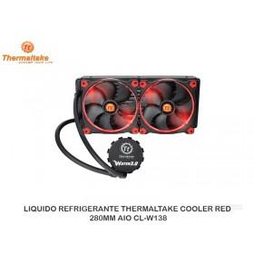 LIQUIDO REFRIGERANTE THERMALTAKE COOLER RED 280MM AIO CL-W138