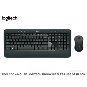 TECLADO + MOUSE LOGITECH MK540 WIRELESS USB SP BLACK