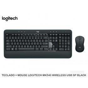TECLADO + MOUSE LOGITECH MK540 WIRELESS USB SP BLACK
