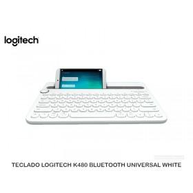 TECLADO LOGITECH K480 BLUETOOTH UNIVERSAL WHITE