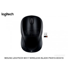 MOUSE LOGITECH M317 WIRELESS BLACK PN/910-003416