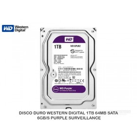 DISCO DURO WESTERN DIGITAL 1TB 64MB SATA 6GB/S PURPLE SURVEILLANCE