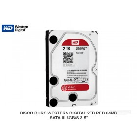 DISCO DURO WESTERN DIGITAL 2TB RED 64MB SATA III 6GB/S 3.5""