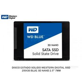 "DISCO ESTADO SOLIDO WESTERN DIGITAL SSD 250GB BLUE 3D NAND 2.5"" 7MM"