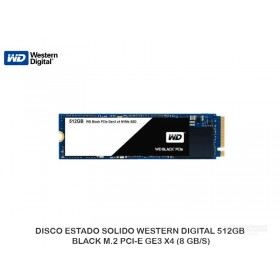 DISCO ESTADO SOLIDO WESTERN DIGITAL 512GB BLACK M.2 PCI-E GE3 X4 (8 GB/S)