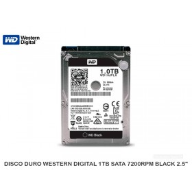 DISCO DURO WESTERN DIGITAL 1TB SATA 7200RPM BLACK 2.5""