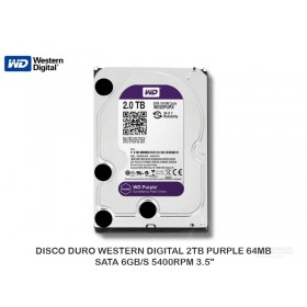 DISCO DURO WESTERN DIGITAL 2TB PURPLE 64MB SATA 6GB/S 5400RPM 3.5""
