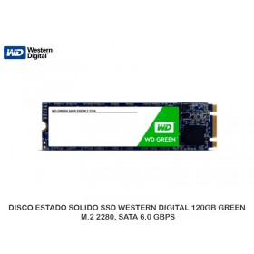 DISCO ESTADO SOLIDO SSD WESTERN DIGITAL 120GB GREEN, M.2 2280, SATA 6.0 GBPS