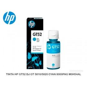 TINTA HP GT52 DJ GT 5810/5820 CYAN 8000PAG M0H54AL