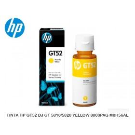 TINTA HP GT52 DJ GT 5810/5820 YELLOW 8000PAG M0H56AL