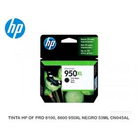 TINTA HP OF PRO 8100, 8600 950XL NEGRO 53ML CN045AL