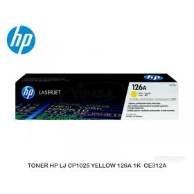 TONER HP LJ CP1025 YELLOW 126A 1K CE312A