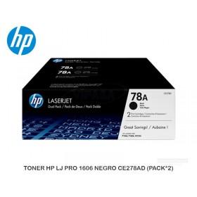 TONER HP LJ PRO 1606 NEGRO CE278AD (PACK*2)