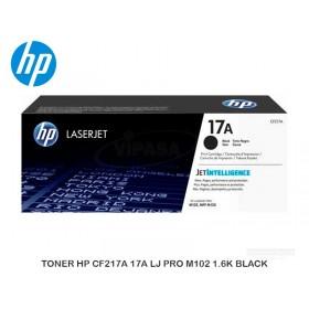 TONER HP CF217A 17A LJ PRO M102 1.6K BLACK