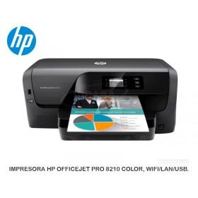 IMPRESORA HP OFFICEJET PRO 8210 COLOR, WIFI/LAN/USB.