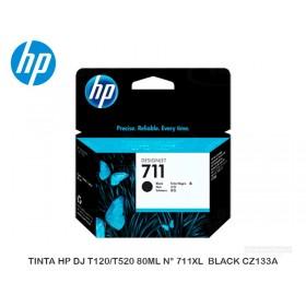 TINTA HP DJ T120/T520 80ML N° 711XL  BLACK CZ133A