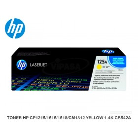 TONER HP CP1215/1515/1518/CM1312 YELLOW 1.4K CB542A