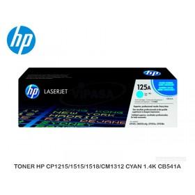 TONER HP CP1215/1515/1518/CM1312 CYAN 1.4K CB541A
