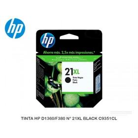TINTA HP D1360/F380 N° 21XL BLACK C9351CL