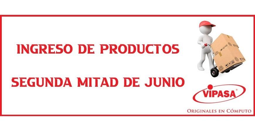 Ingreso de productos - Mitad de Junio
